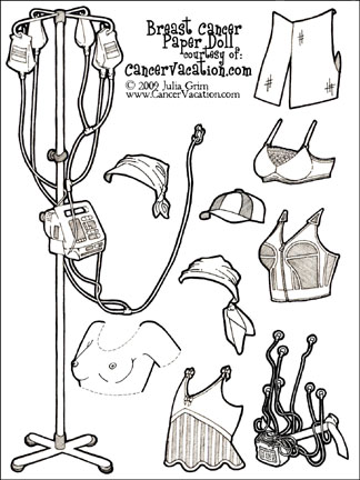 Breast cancer paper doll, click for printable version...